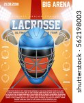 poster template of lacrosse... | Shutterstock .eps vector #562198003