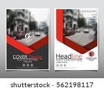 Red geometric flyer cover business brochure vector design, Leaflet advertising abstract background, Modern poster magazine layout template, Annual report for presentation | Shutterstock vector #562198117