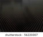 Concept Of Black Shiny Polygon...
