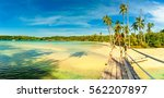 panoramic photo tropical beach  ... | Shutterstock . vector #562207897