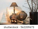 still life with winter home...   Shutterstock . vector #562209673
