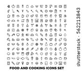 Food and cooking icons set | Shutterstock vector #562213843