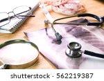 selective focus health care... | Shutterstock . vector #562219387