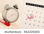 closeup doctor appointment on...   Shutterstock . vector #562220203