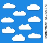 set of cloud icons in trendy... | Shutterstock .eps vector #562221673