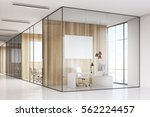 row of meeting rooms with glass ... | Shutterstock . vector #562224457