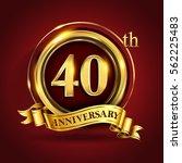 celebrating 40th golden... | Shutterstock .eps vector #562225483