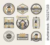 beer logo vintage isolated... | Shutterstock .eps vector #562227133