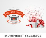 happy valentines day greeting... | Shutterstock .eps vector #562236973