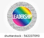 leadership word cloud  business ... | Shutterstock .eps vector #562237093