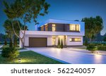 3d rendering of modern cozy... | Shutterstock . vector #562240057