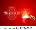 happy valentines day greeting... | Shutterstock .eps vector #562243213
