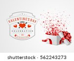 happy valentines day greeting... | Shutterstock .eps vector #562243273
