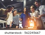 crew of skilled engineers... | Shutterstock . vector #562245667