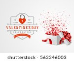 happy valentines day greeting... | Shutterstock .eps vector #562246003