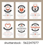 happy valentines day party... | Shutterstock .eps vector #562247077