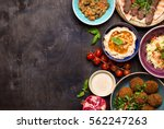 middle eastern or arabic dishes ... | Shutterstock . vector #562247263