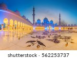 sheikh zayed grand mosque at... | Shutterstock . vector #562253737