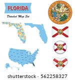 florida state set | Shutterstock .eps vector #562258327