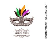 vector logo mask of lace. mardi ... | Shutterstock .eps vector #562259287