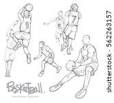 hand drawn illustration set of... | Shutterstock .eps vector #562263157