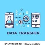 vector business illustration of ... | Shutterstock .eps vector #562266007