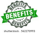 benefits. stamp. sticker. seal. ... | Shutterstock .eps vector #562270993