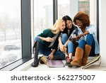concept of socialization and no ... | Shutterstock . vector #562275007