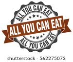 all you can eat. stamp. sticker.... | Shutterstock .eps vector #562275073