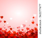 Valentine's day background with hearts. Vector illustration | Shutterstock vector #562277677