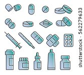 medical modern icon set | Shutterstock .eps vector #562279633