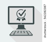 top rating certificate   vector ... | Shutterstock .eps vector #562282387