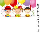 costume party card. clown ... | Shutterstock .eps vector #562290667