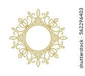 gold elegant frame. line art... | Shutterstock .eps vector #562296403