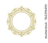 gold elegant frame. line art...   Shutterstock .eps vector #562296493