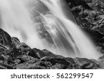 Waterfall Close Up In Black An...