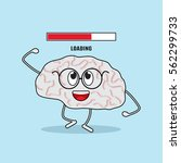funny character of the brain is ... | Shutterstock .eps vector #562299733
