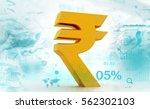 indian rupee icon.3d...   Shutterstock . vector #562302103