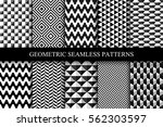 collection of seamless... | Shutterstock .eps vector #562303597