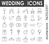 wedding icons  simple and thin... | Shutterstock .eps vector #562312357
