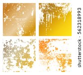 set grunge gold distress... | Shutterstock .eps vector #562318993