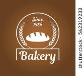 bread and bakery stamp white... | Shutterstock .eps vector #562319233
