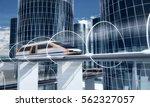 concept of magnetic levitation... | Shutterstock . vector #562327057