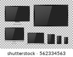 set of realistic tv  lcd  led ... | Shutterstock .eps vector #562334563