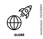 globe card icon or logo in... | Shutterstock .eps vector #562335847