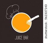 glass of juice with hand drawn... | Shutterstock .eps vector #562337143