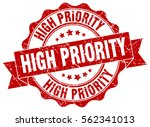 high priority. stamp. sticker.... | Shutterstock .eps vector #562341013