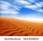 sand desert landscape | Shutterstock . vector #562344853