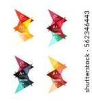 colorful vector option banner... | Shutterstock .eps vector #562346443
