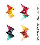 colorful vector option banner... | Shutterstock .eps vector #562346443